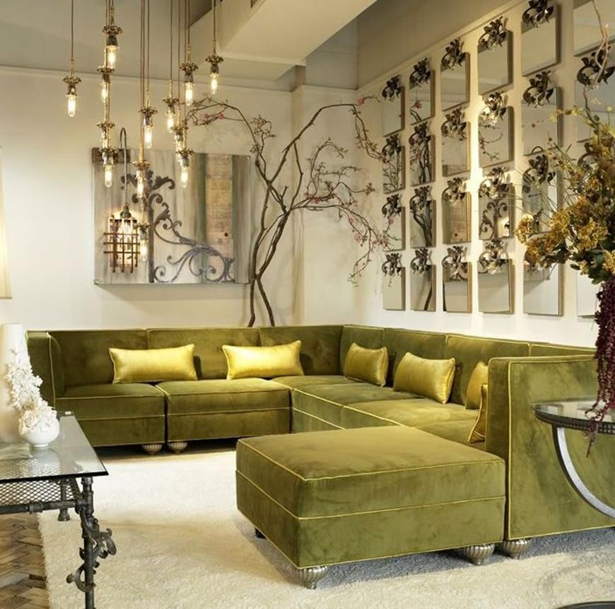 Exceptionnel Room · How About Velvet Sofa In Your Home Interior Design ...