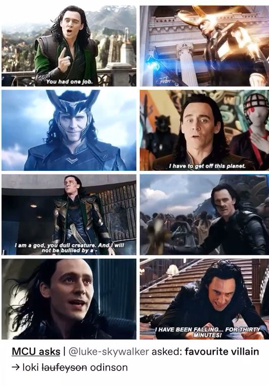Loki favourite villain collage