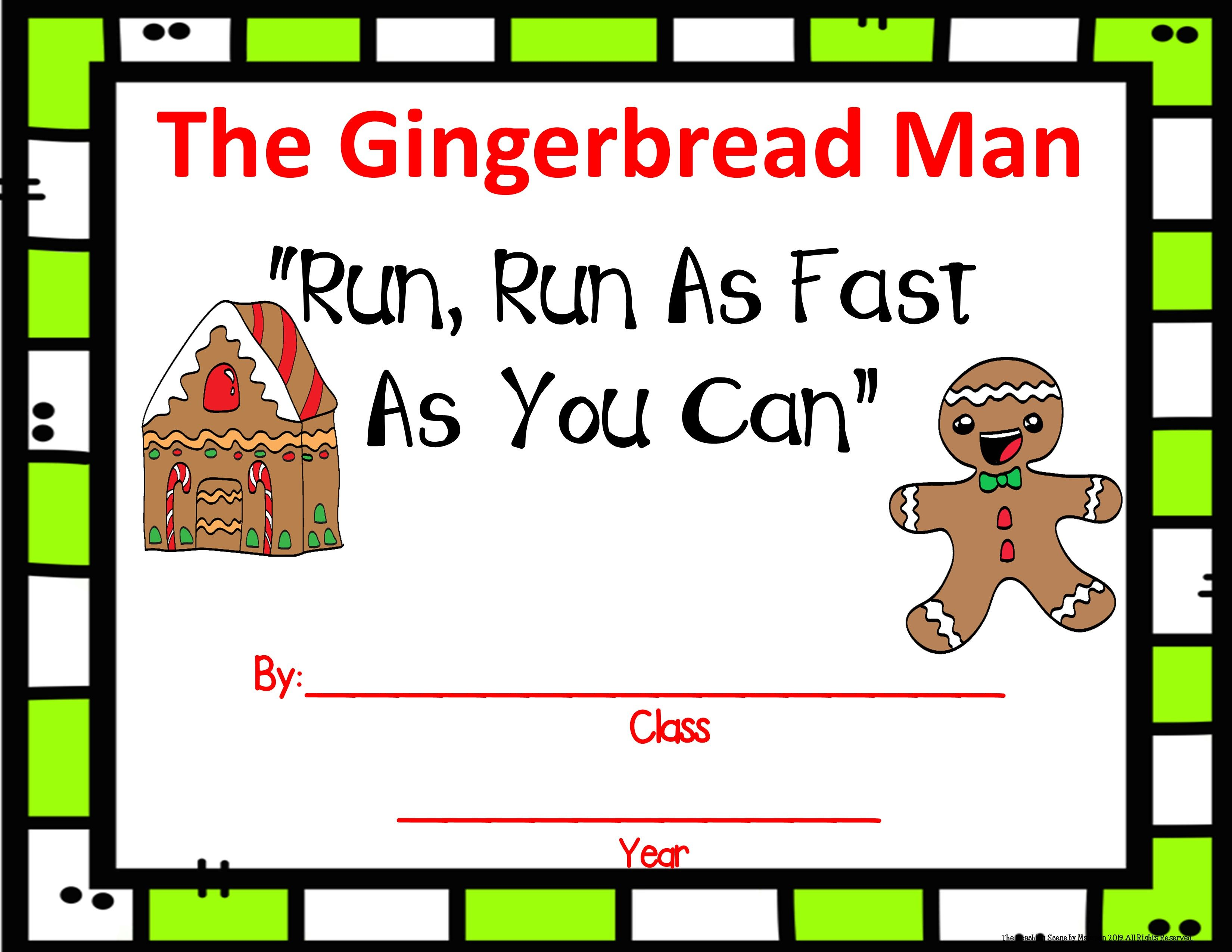 December Literacy Unit Gingerbread Man Amp Baby Amp A Wish To