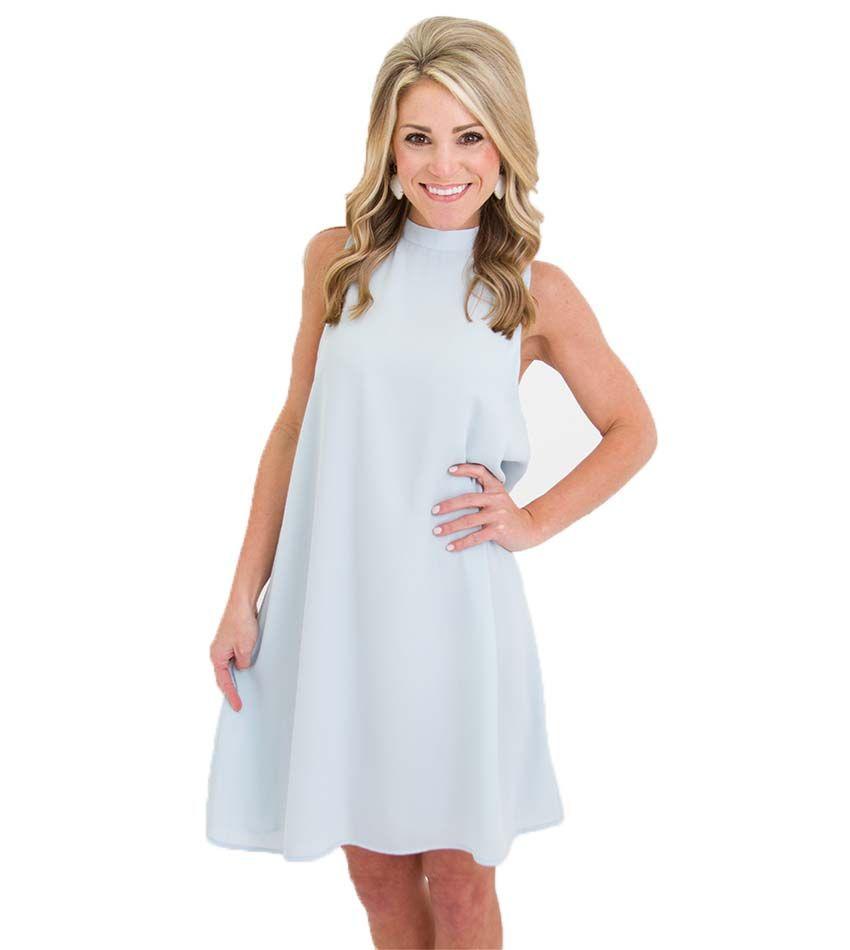 Babyus Breath Dress Blue Up In The Air Dress Spring Fashion