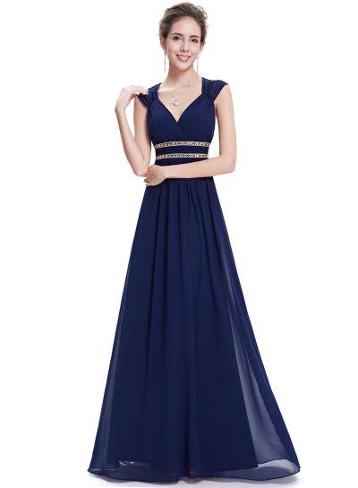 7390d27368b Women s V-Neck Sleeveless Maxi Ball Gown Prom Evening Party Dress ...