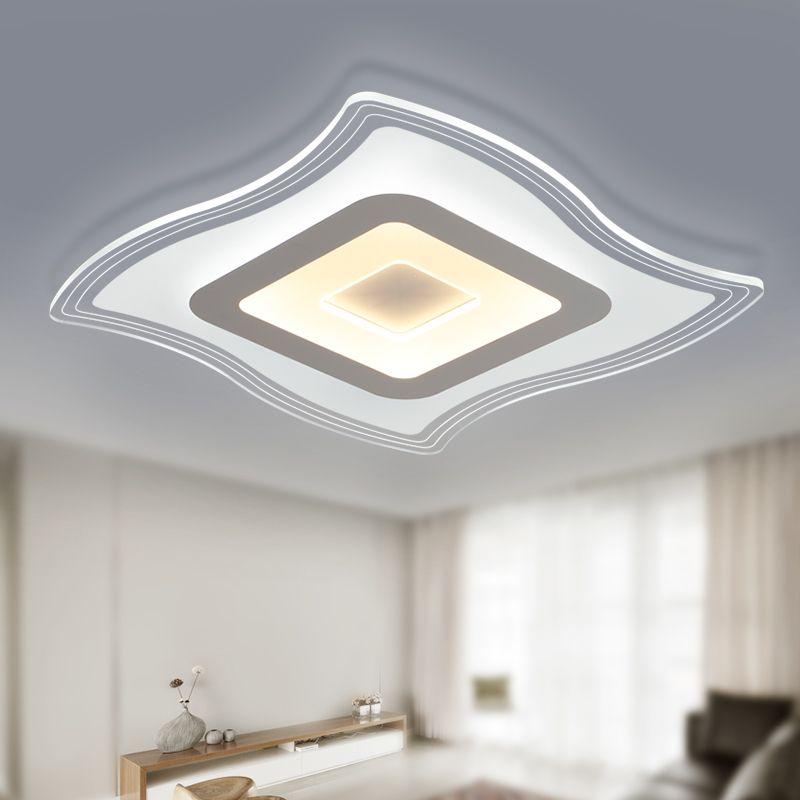 Ultra Thin Acrylic Ceiling Lamp Living Room Bedroom Balcony Modern