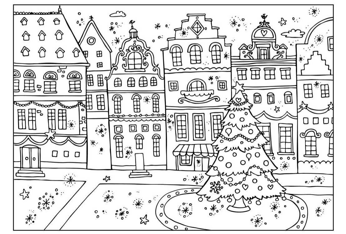 Раскраски к новому году   Рождественские раскраски ...