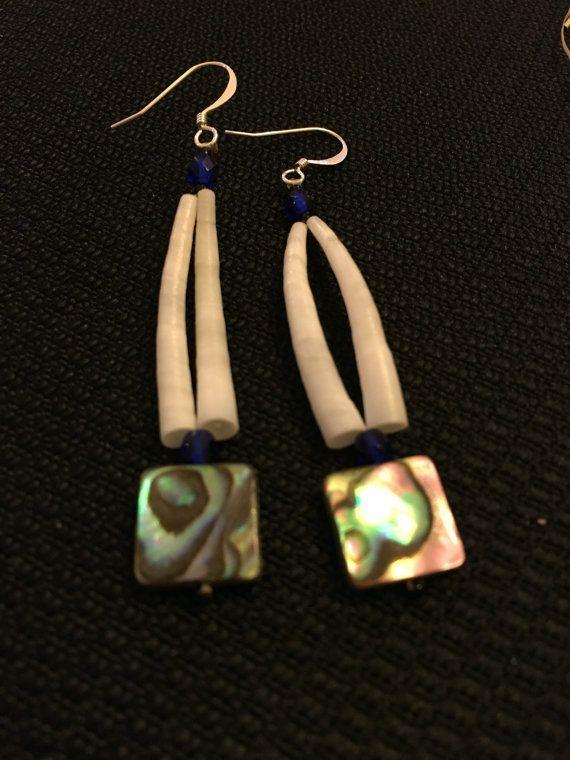 Dentallium Earrings by TLeeMcGinnisDesigns on Etsy