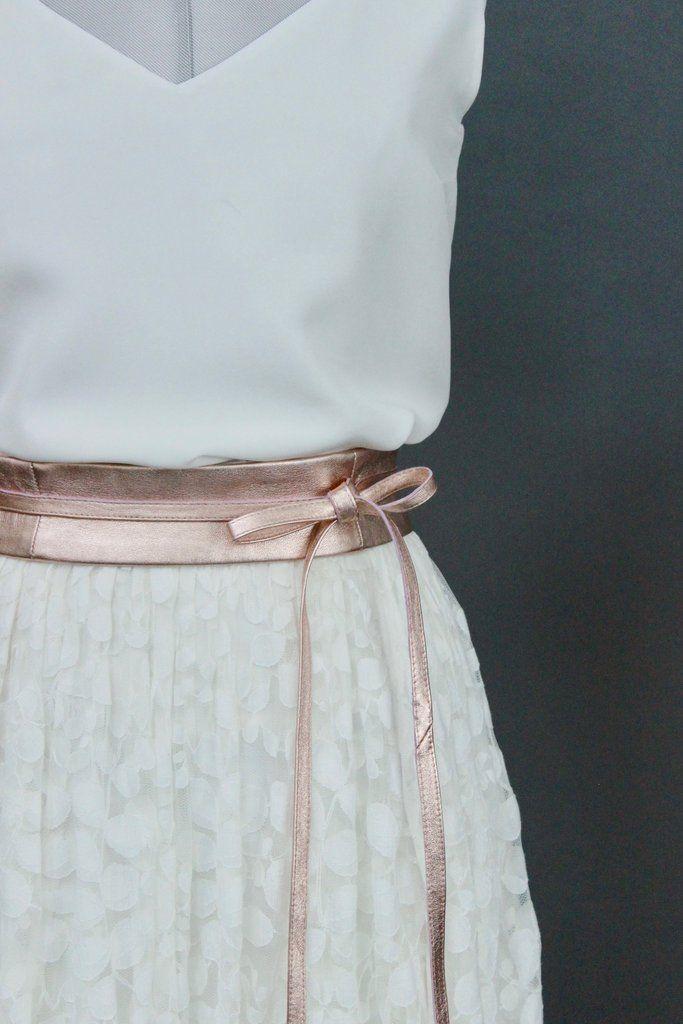 Braut Rock mit Spitze im Boho Stil - Delphine | Boho, Wedding and ...