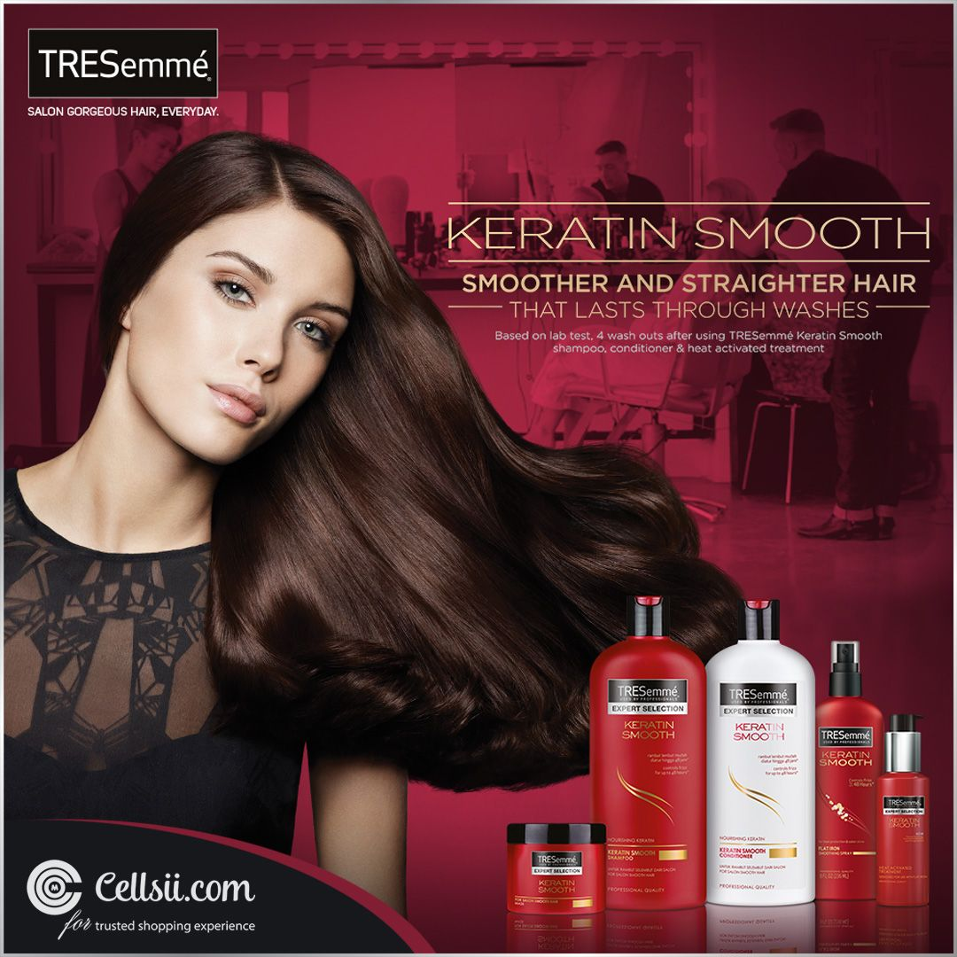 Salon Style Hair At Home Everyday With Tresemme Tresemme Keratin Smooth Tresemme Hair Care Products Online