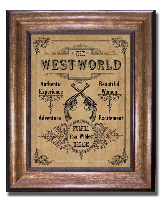 Westworld print  Visit West World  HBO Vintage by MyChildishThings