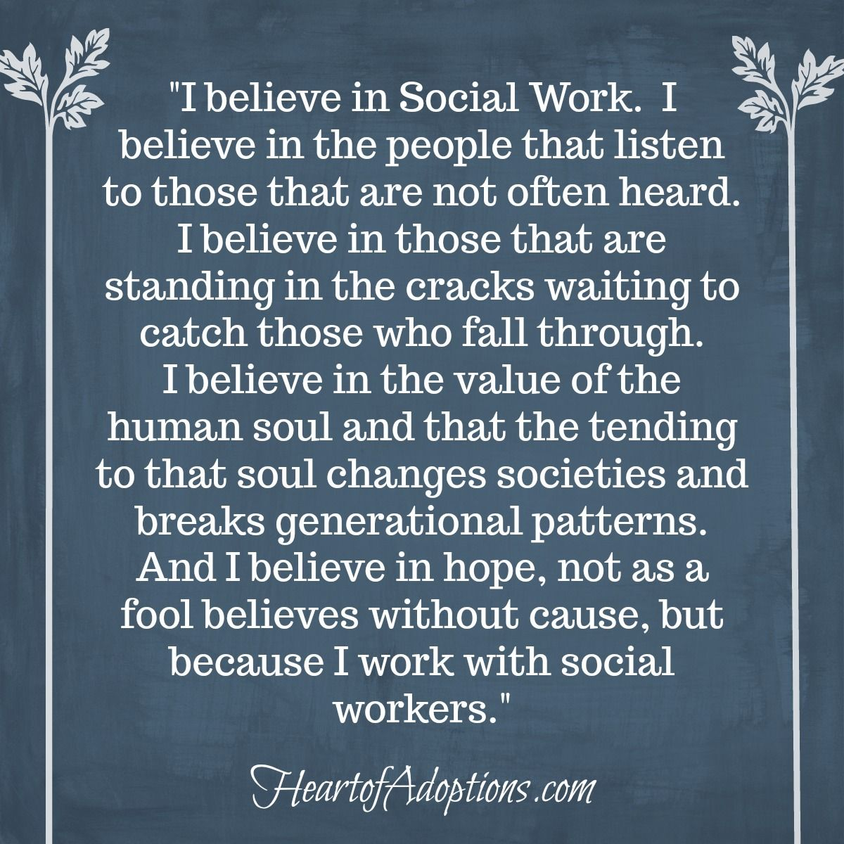 We had a great Social Work month last month! But around