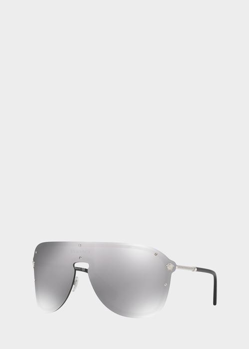99093709c1c Versace Silver  Frenergy Visor Sunglasses for Men