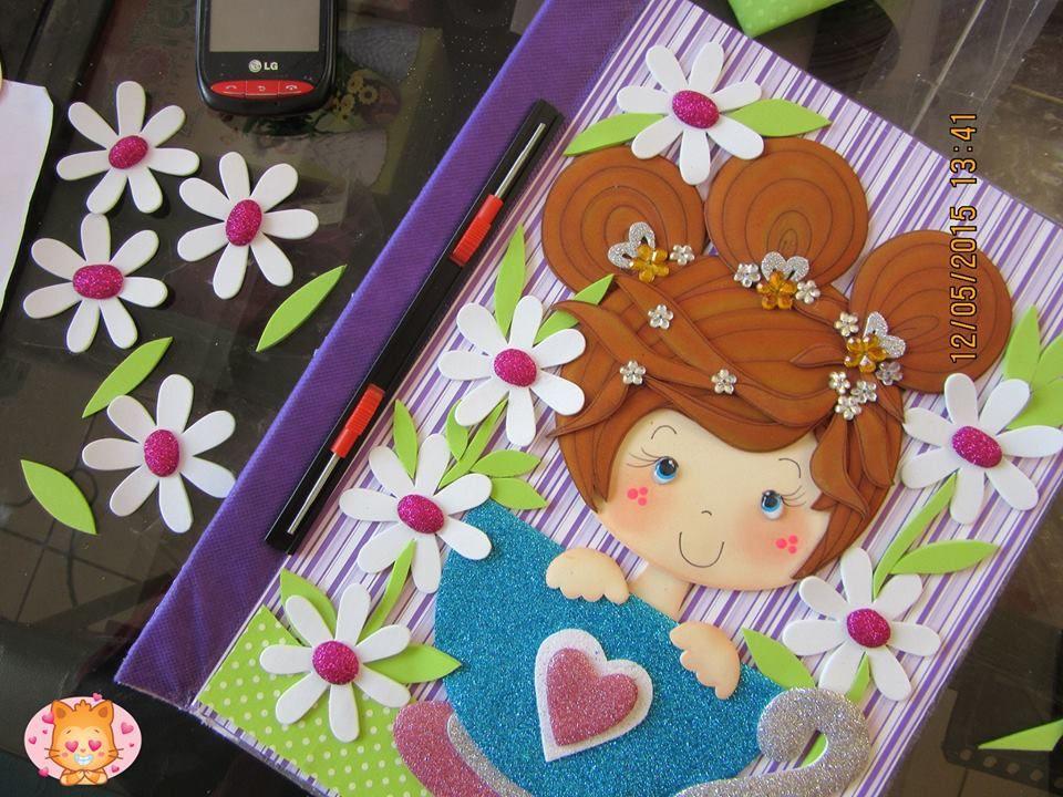 muñeca web para carpeta. | cuadernos | Pinterest