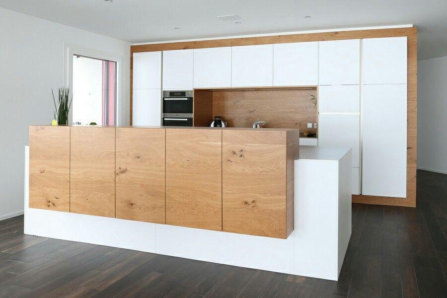 Hochwertige grifflose Küche Forum 3-Schicht Alteiche mit Metal LUX - zeyko küchen preise