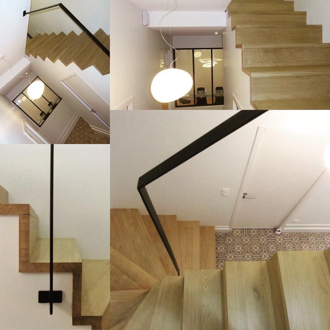 Escalier Sur Mesure Double Quart Tournant Chene Massif Vernis