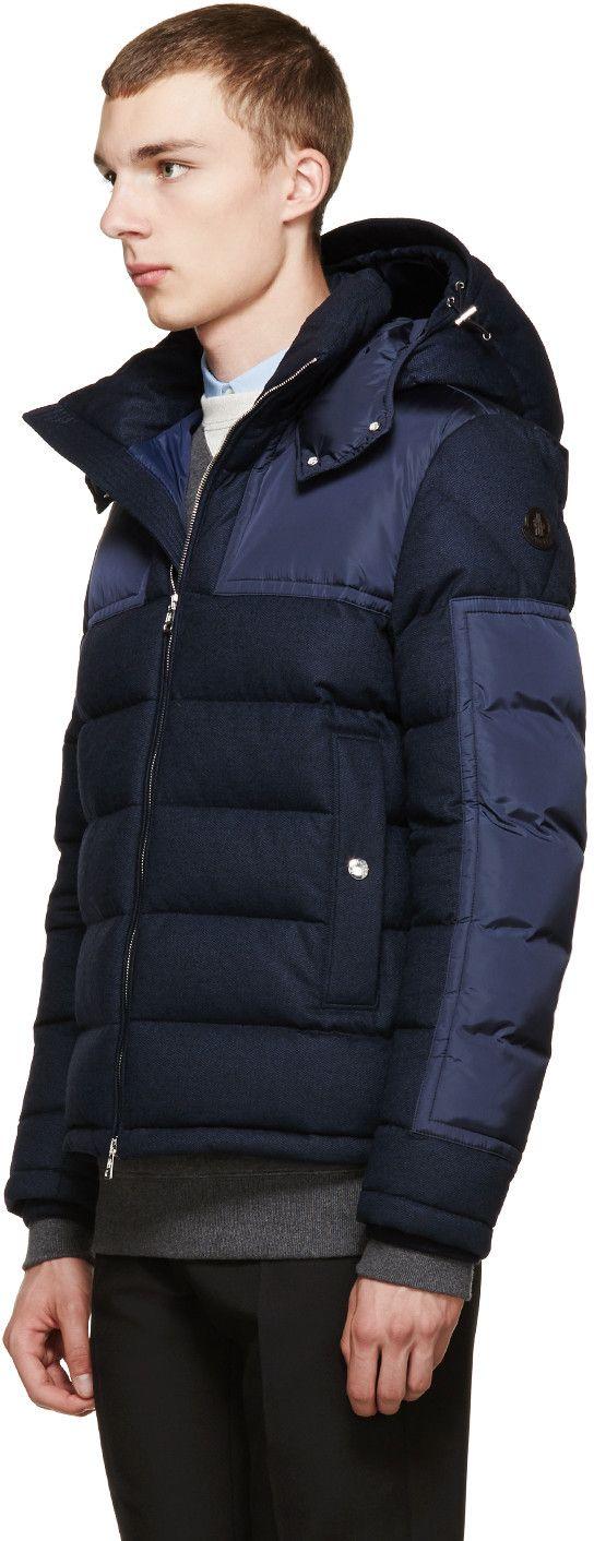 Moncler Blue Wool Down Severac Jacket