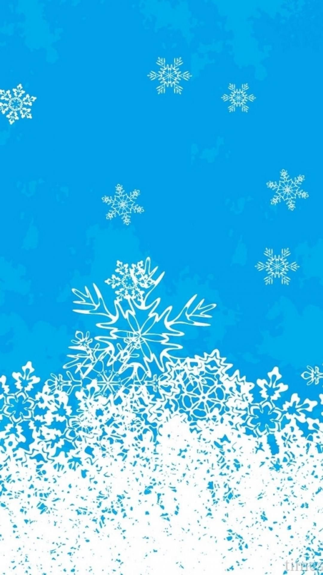 Merry Christmas Snowflake Background IPhone 6 Wallpaper