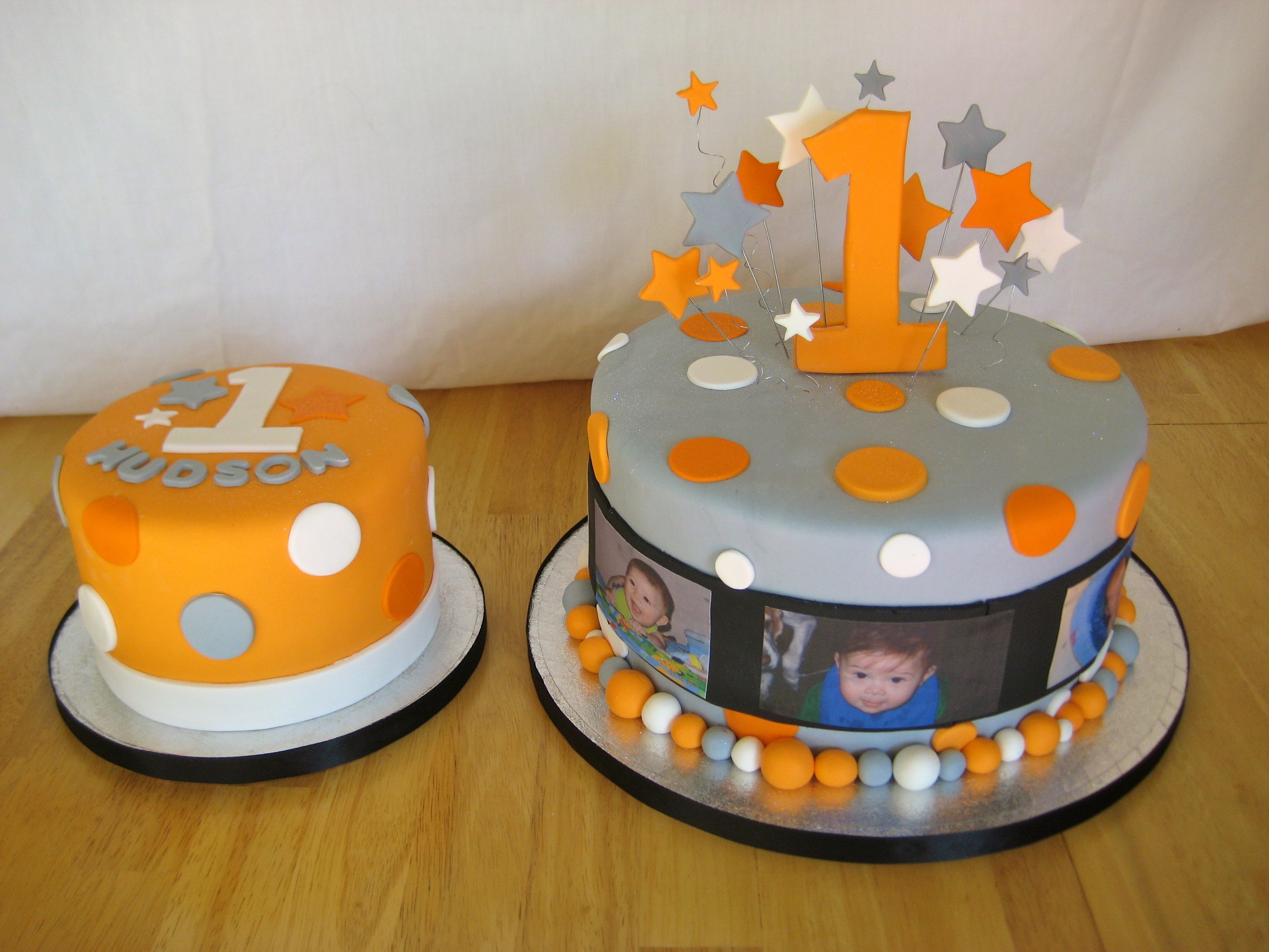 One Year Old in a FLASH cake Stars, Edible Images and