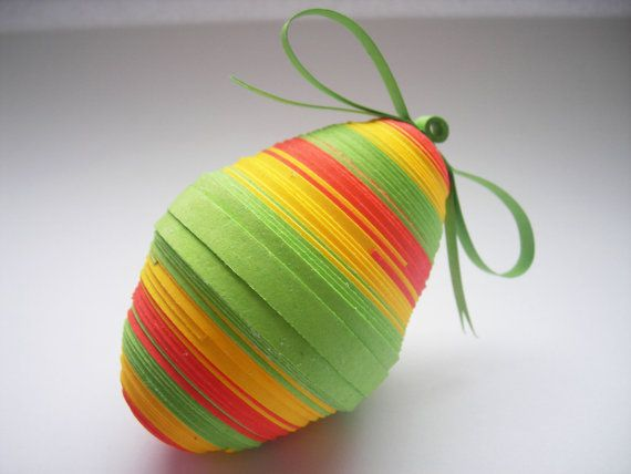 Single stripy easter egg easter decoration paper quilling items similar to single stripy easter egg easter decoration paper quilling ornament easter gift on etsy negle Gallery