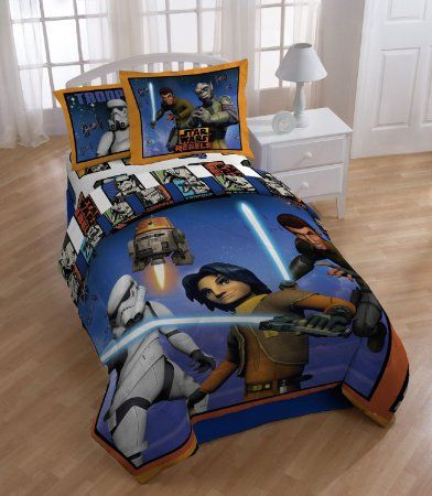 Star Wars Rebels Twin Comforter Set   Orange/Blue