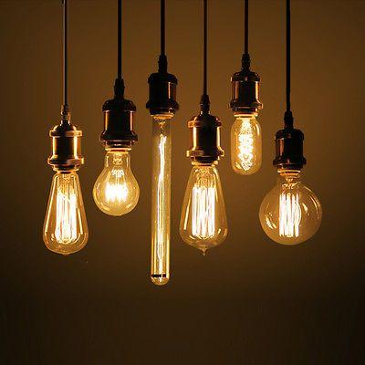 E27 Antique Edison Bulb Incandescent Light Vintage Retro Industrial Style Lamp Light Bulb Vintage Pendant Lighting Bulb