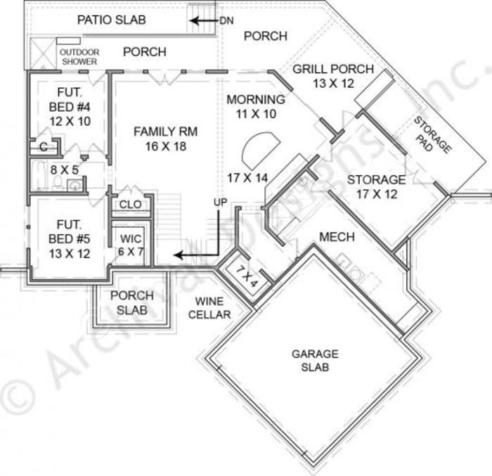 Rustic lake empty nester house plans rustic home plans for Empty nester house plans with basement