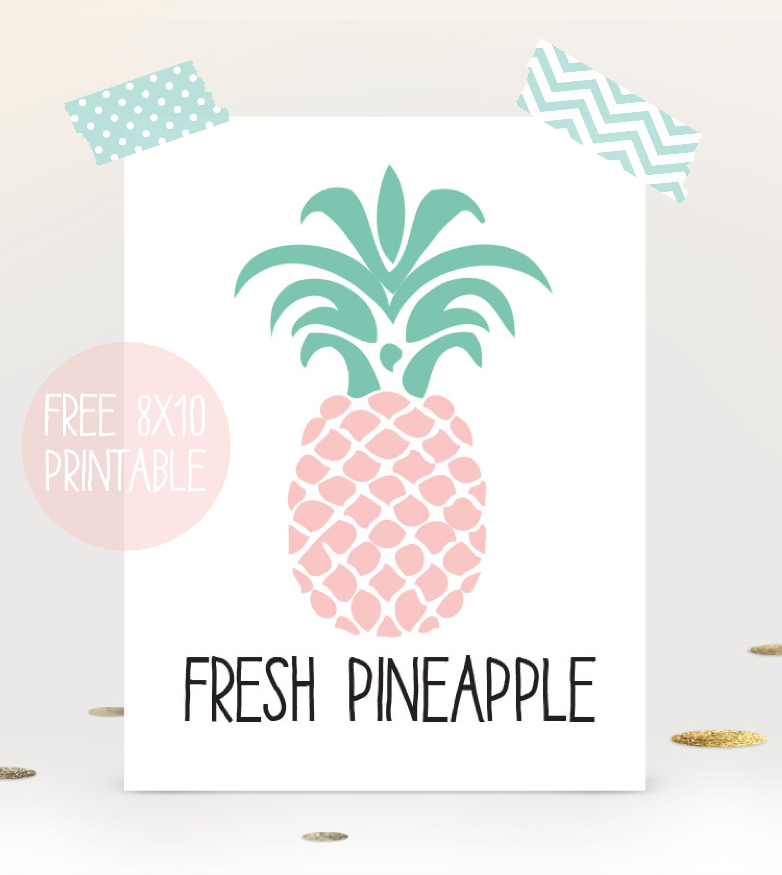 Pineapple wall art print - free printable download for summer | I ...