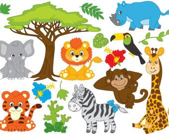 jungle animal clipart safari clip art jungle clip art jungle rh pinterest com clipart jungle animals clipart jungle animals black and white