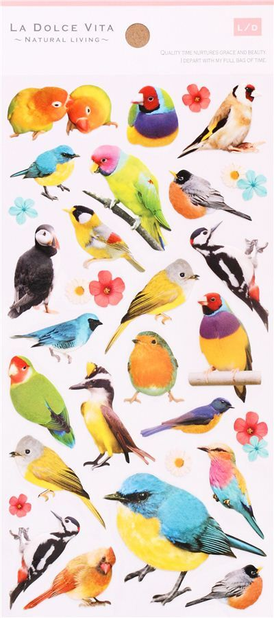 Kawaii Bird Parrot Parakeet Stickers By Mind Wave 2