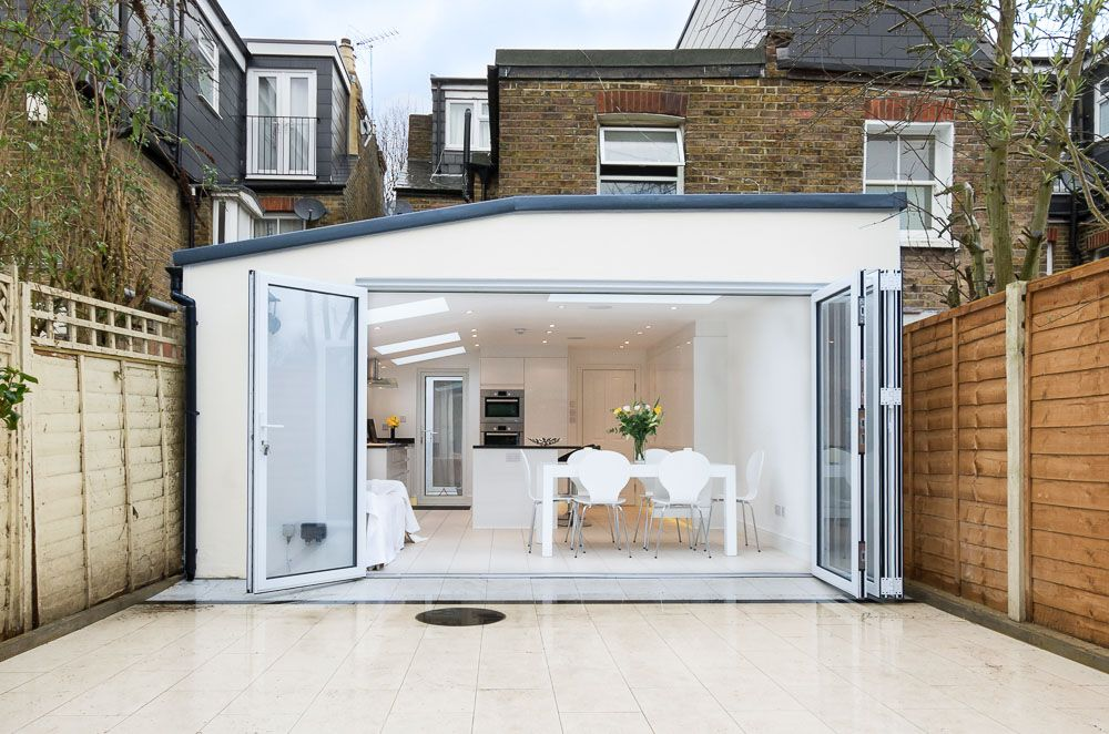 A Single Storey Rear Kitchen Extension In Twickenham. Kitchen Design Ideas,  White Kitchen