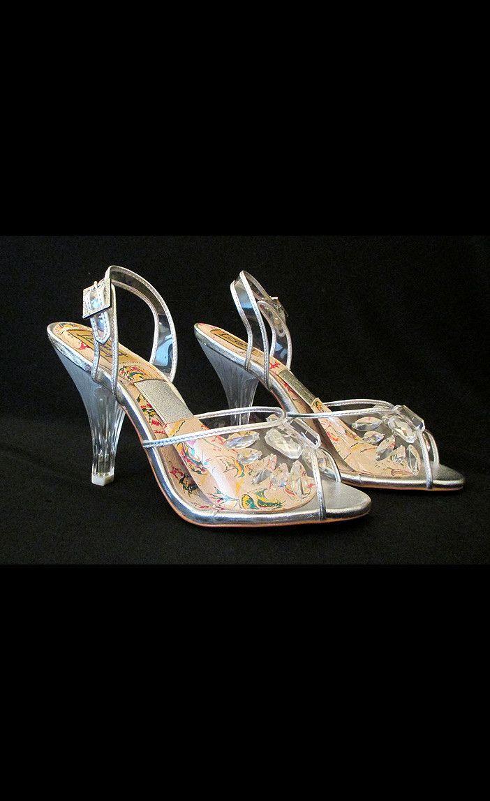 026453cccf867 1950's Carved Lucite High Heels | plastic shoes | Heels, High heels ...