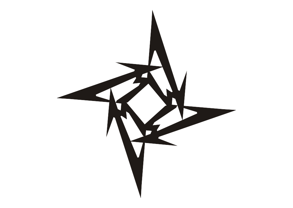 Logo Metallica Ninja Star Vector Free Logo Vector Download Metallica Tattoo Metallica Logo Tattoo Metallica Logo