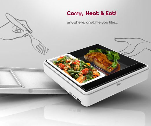 Portable Electric Heat Food Box Container Lunch Meal Lunch Box for Office Worker