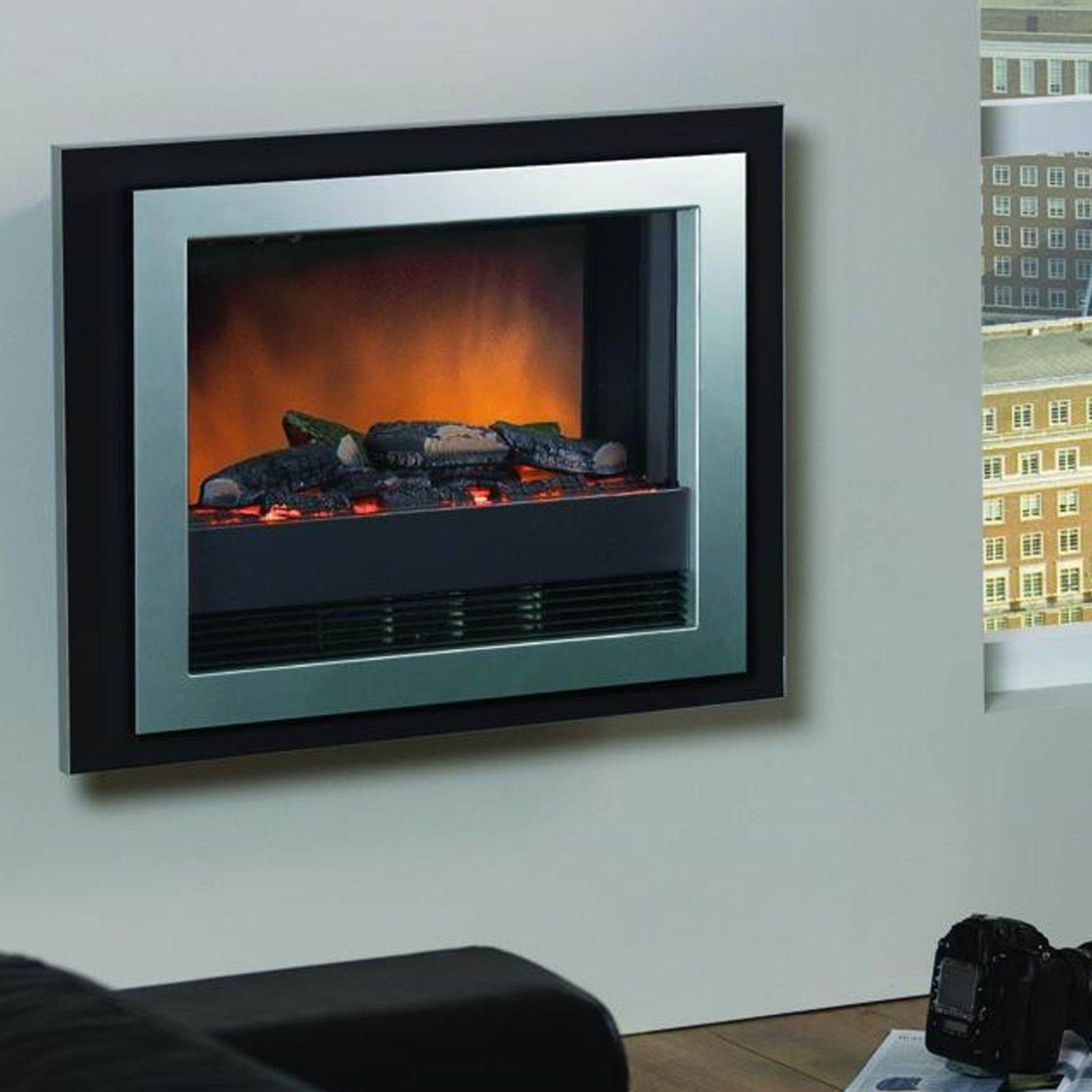 Dimplex bizet optiflame wall mounted electric fire wall