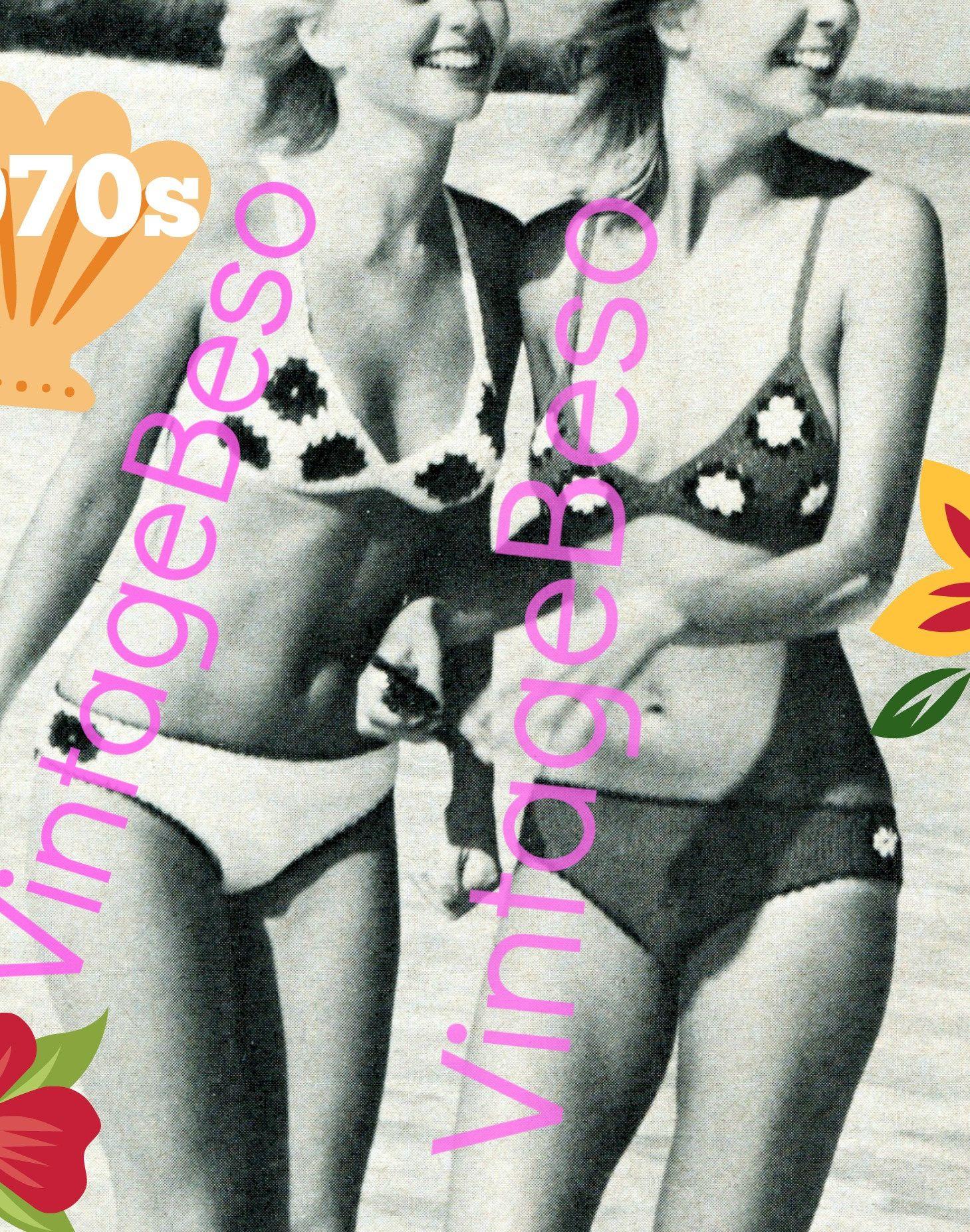 Digital Pattern • PdF • Sexy Granny Bikini Vintage CROCHET Pattern ...