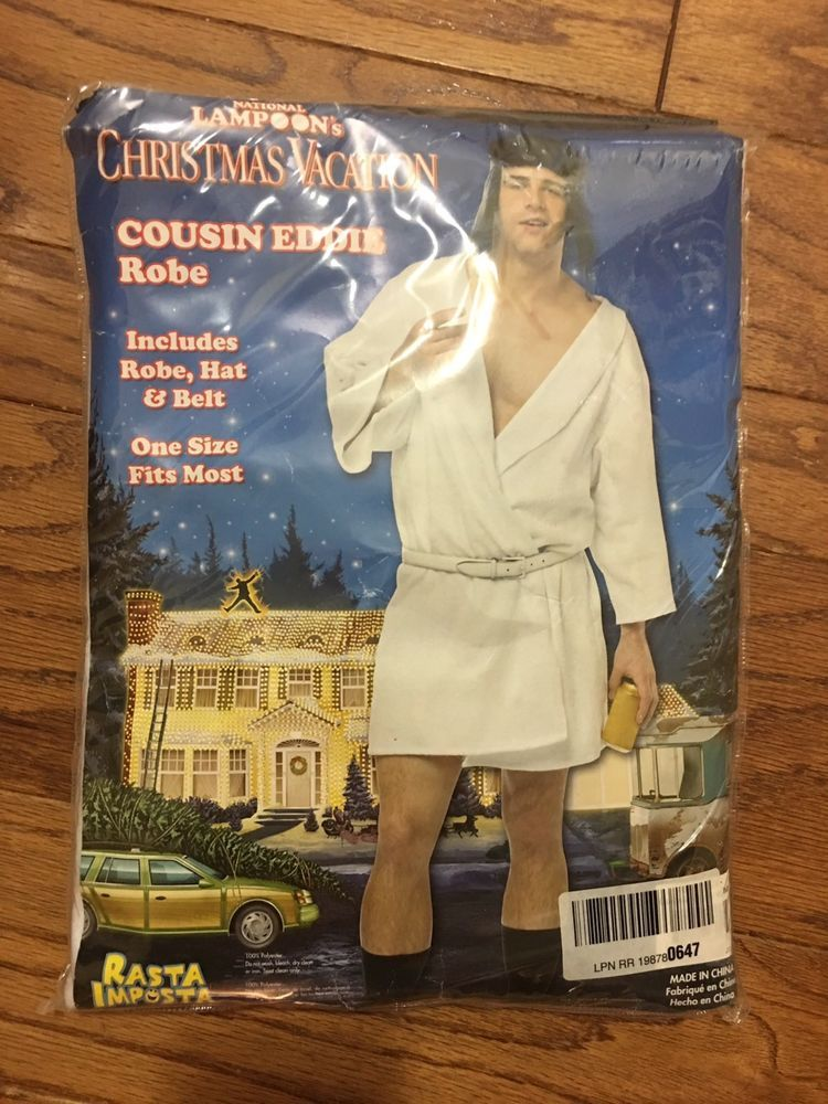 5773881acf National Lampoon s Christmas Vacation Cousin Eddie Robe Hat Belt Party  Winner