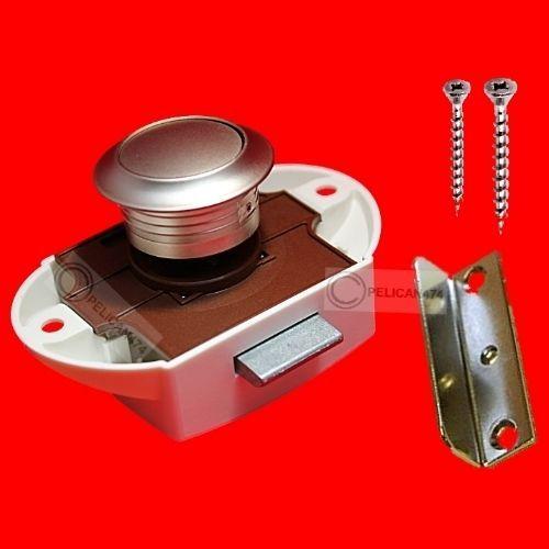 18mm 19mm LARGE PUSH BUTTON CATCH Cupboard Pop Up Knob Camper Lock Handle