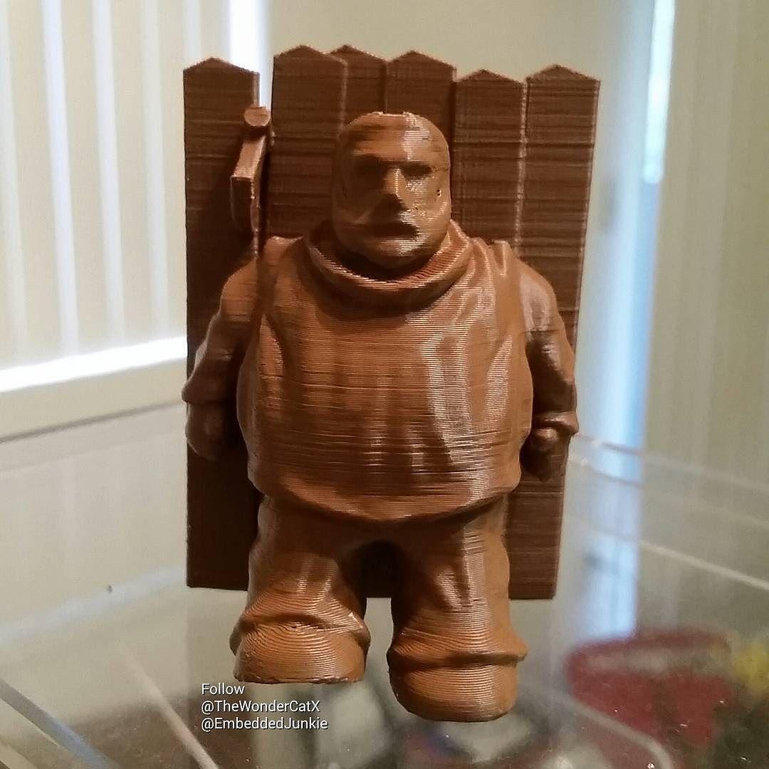 Chocolate?!? .... Hold the Diet!  I wish. Created by @thewondercatx and myself. #gameofthrones #gotseason6 #gameofthronesseason6 #hodor #holdthedoor #nerdy #makersgonnamake #decor #door #diy #3dprinter #3dprinting #3dprint #3dprinted #3dprints #impresora3d #3dmodel #modeling #3дпринтер #3дпечать #arttoy #arttoys #designertoy #designertoys #customtoy #Toydesign  #customtoys  #crafts