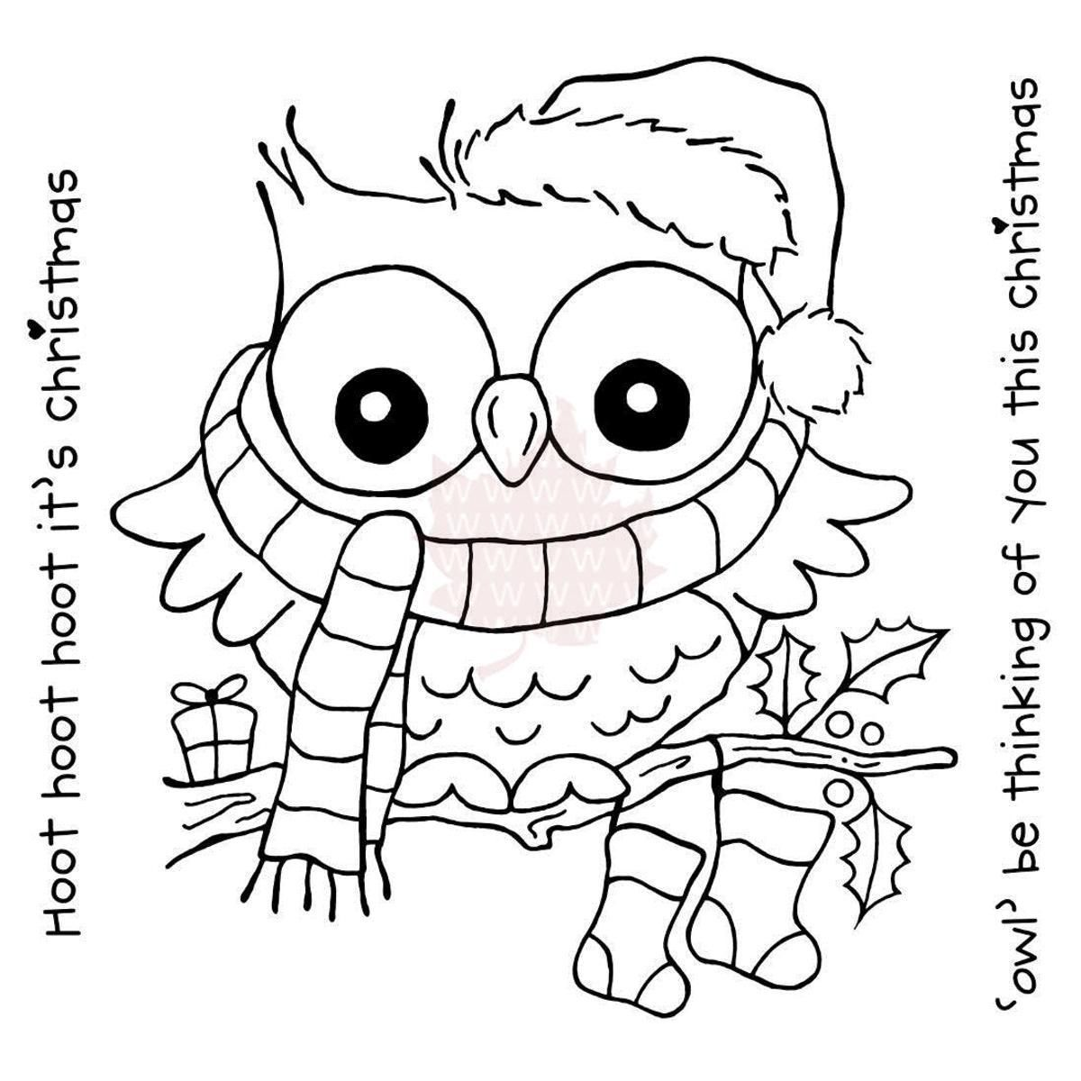 25++ Printable christmas owl coloring pages info