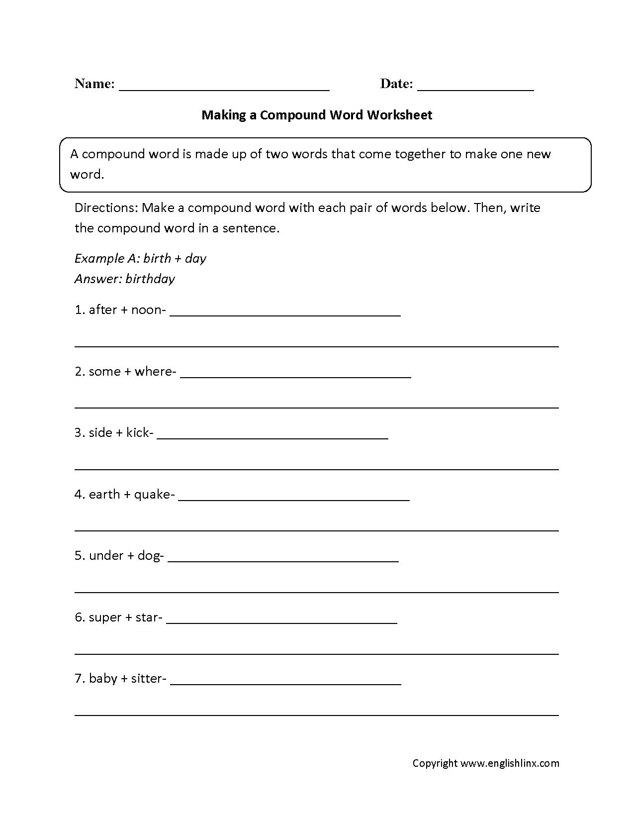 Grammar Mechanics Worksheets