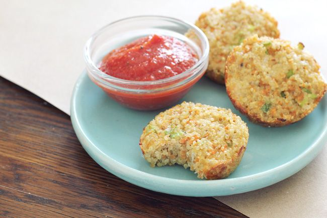 Cheesy Quinoa Dippers