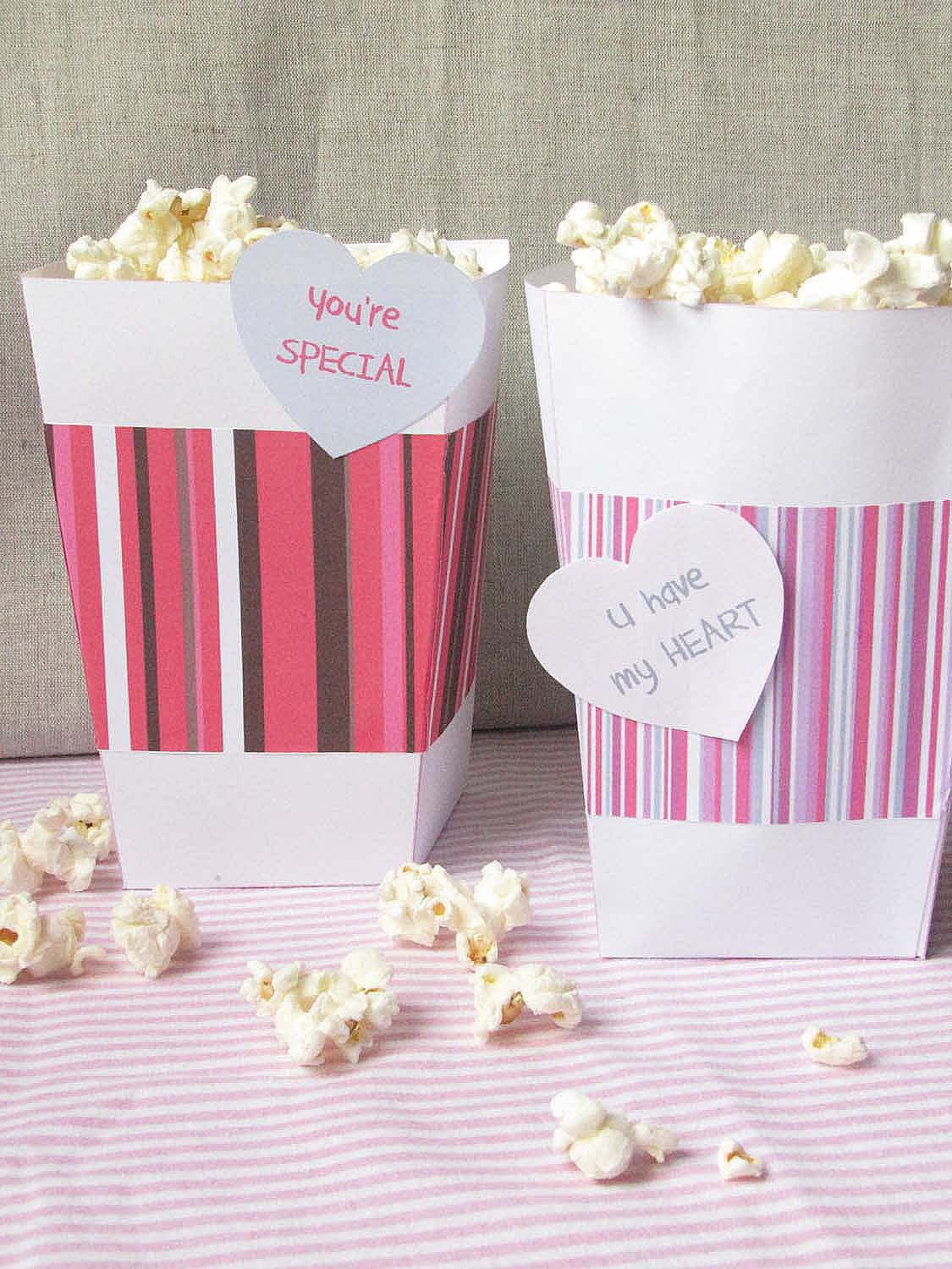 Valentine\'s Day Popcorn Boxes for a romantic Movie nigth (Free ...