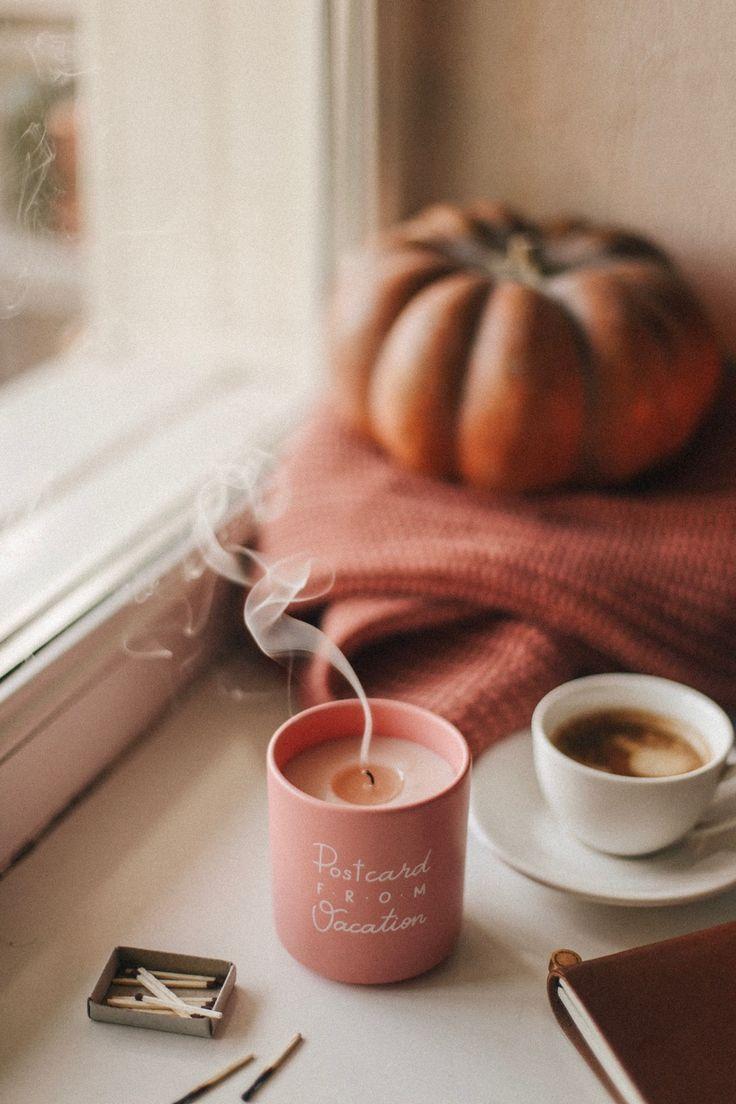 Autumn candle #autumnscenery Autumn candle #autumnwallpaper