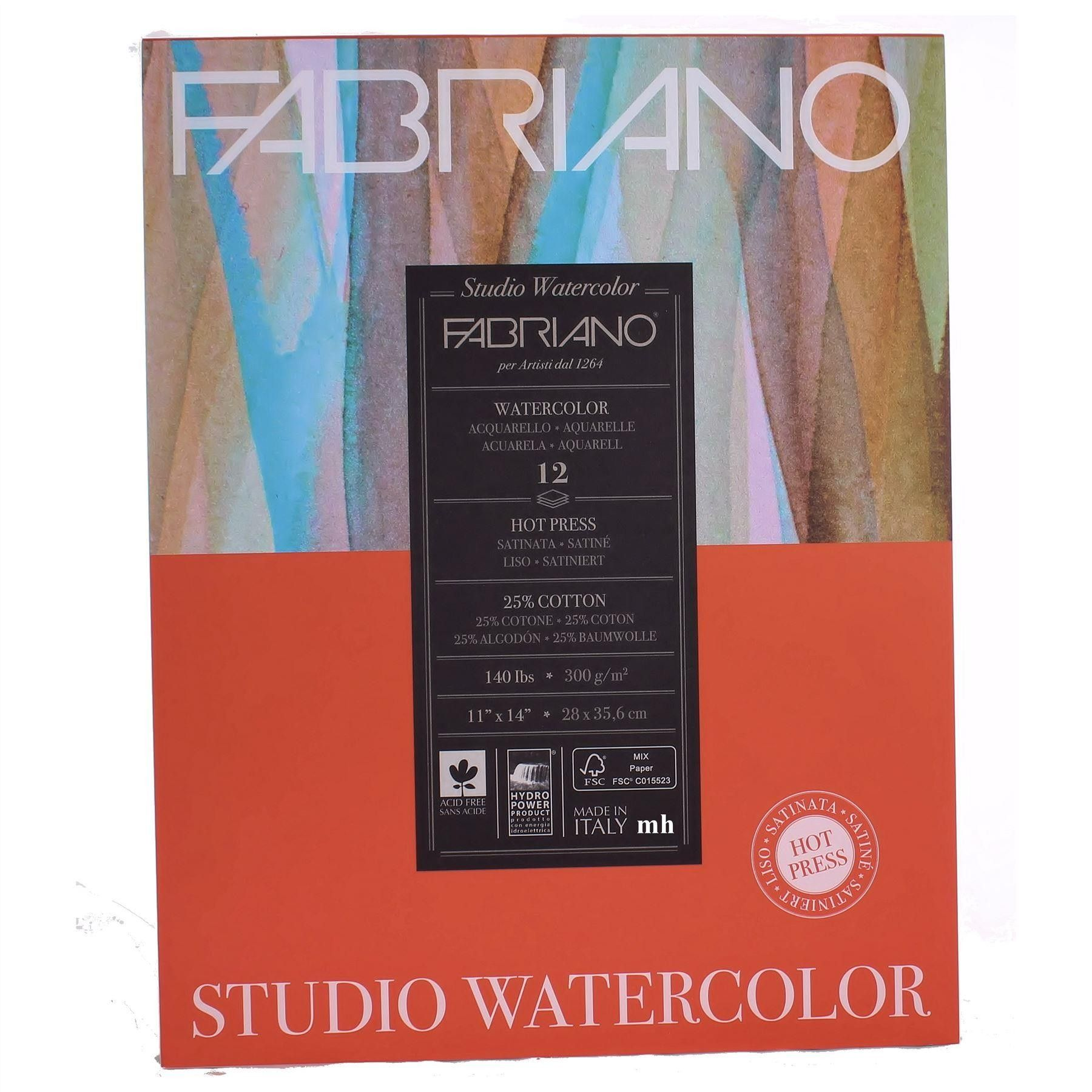 Fabriano Studio Watercolour Pad Fabriano Paper Pads Watercolor