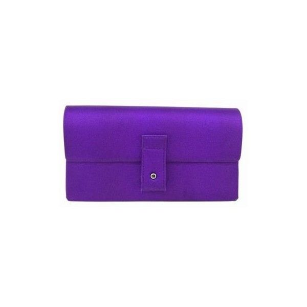 ba9c34a5213 Pre-Owned Gucci Satin Evening Bag Clutch Purple ( 180) ❤ liked on Polyvore  featuring bags