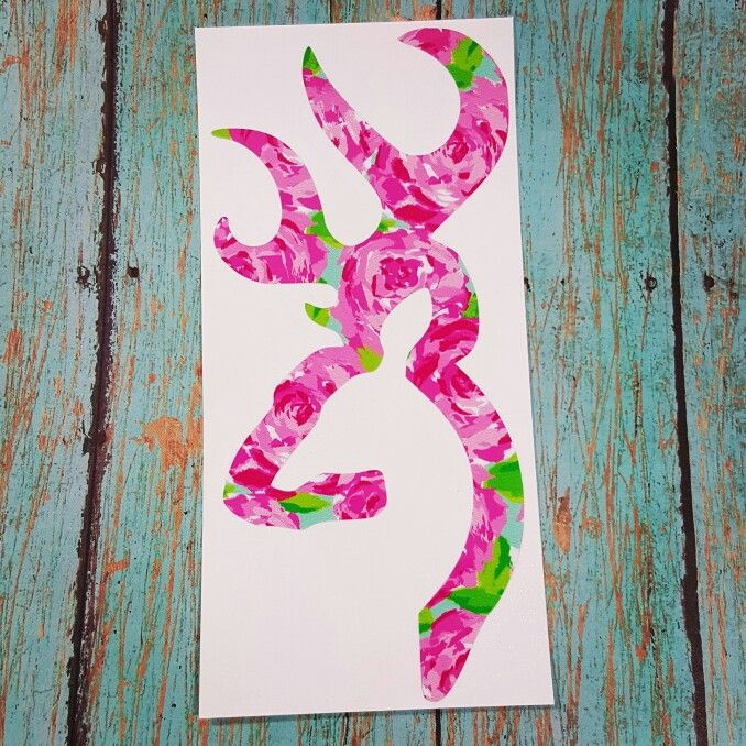 Browning Deer Decal In Lilly Pulitzer Inspired Vinyl Girl Hunters - Browning vinyl decals