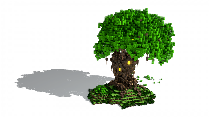 The Old Oak Survival Tree House Updated For Missing Blocks Minecraft Project Tree House Updating House Minecraft