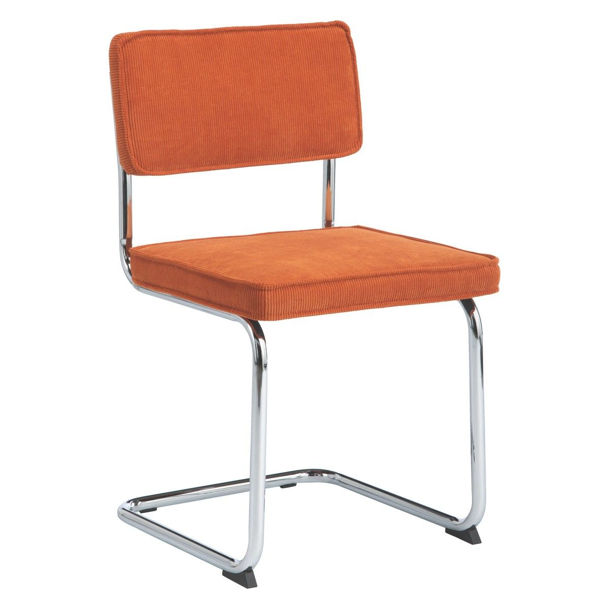 SEVILLA Orange Cantilevered Dining Chair