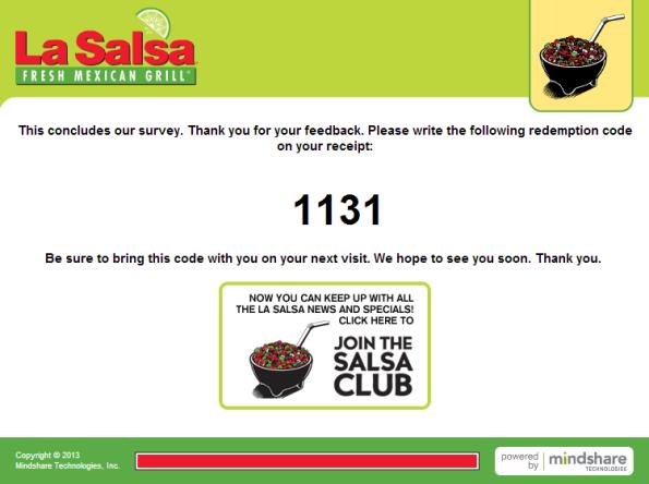 La Salsa Customer Satisfaction Survey WwwLasalsasurveyCom