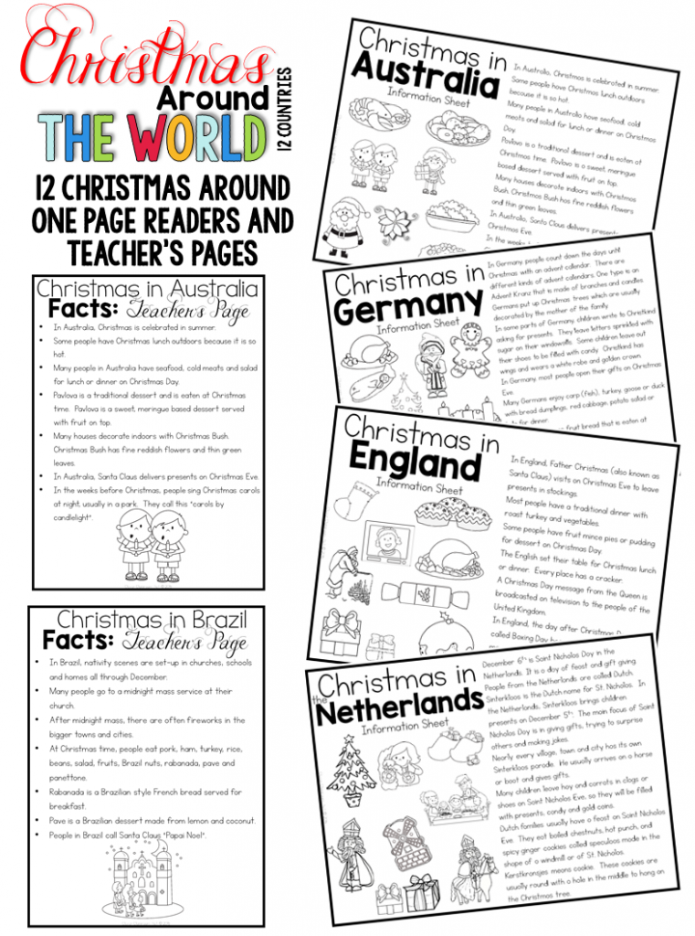 Christmas Around the World reading response, comprehension