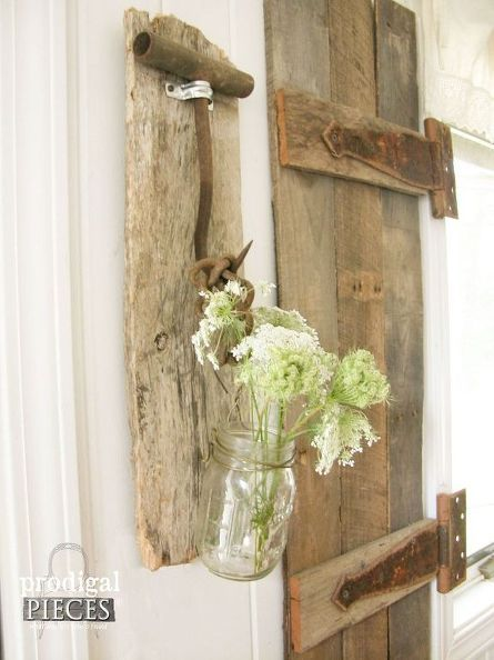 Antique Farmhouse Tools Become Rustic Decor Repurposing Upcycling Wall