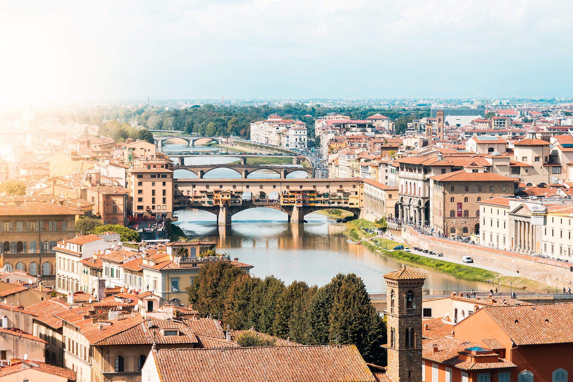 Download Ponte Vecchio on Arno River. Florence. Italy Free Stock Photo | Stock photo sites. Arno river. Free stock photos
