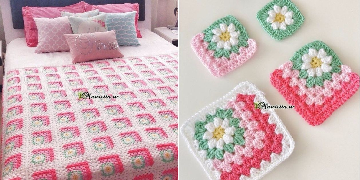 Blanket 3D with Fabulous Colour Effect [Free Crochet] | Crocheted ...